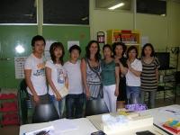 Foto di gruppo del corso di italiano alla biblioteca Pigneto